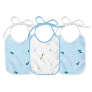 Kit 3 Babadores Felpudos Papi Plastificado Menino Azul