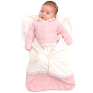 Saída Maternidade Paraiso Plush com Malha Off White