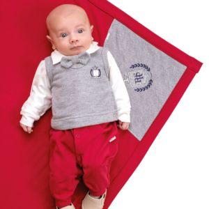 Saída Maternidade Paraiso Conforto Moletom Gravata Vermelho