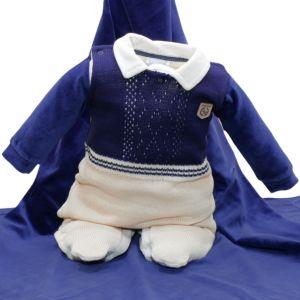 Saída Maternidade Sonho Mágico Social Tricô Plush Bege