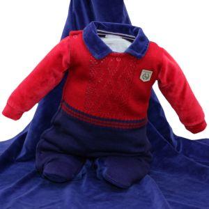 Saída Maternidade Sonho Mágico Social Tricô Plush Vermelho
