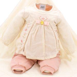 Saída de Maternidade Sonho Mágico Butterfly Malha Rosa Claro