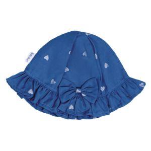 Chapéu Para Bebê Fofinho Ana Plano Estampado Azul Jeans