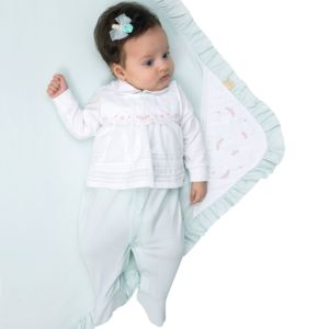 Saída de Maternidade Paraiso Malha Conforto e Palas Verde