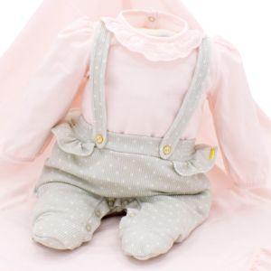Saída de Maternidade Paraiso Conforto Verde Acinzentado