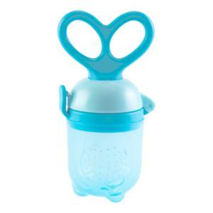 Alimentador Porta Frutinha Buba Baby Anatômico Silicone Azul