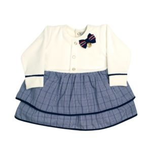 Vestido Infantil Sonho Mágico Plush My Flower Azul Marinho