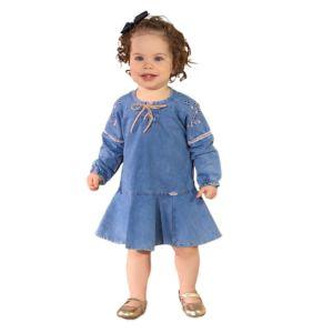 Vestido Infantil Sonho Mágico Favourite Azul Jeans