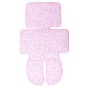 Capa para Carrinho e Cadeirinha Papi Universal Floral Rosa