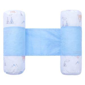 Rolinho Protetor Segura Bebê Papi Estampa Raposa Azul