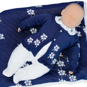 Saída de Maternidade Fofinho Feminina Cassia Azul Marinho