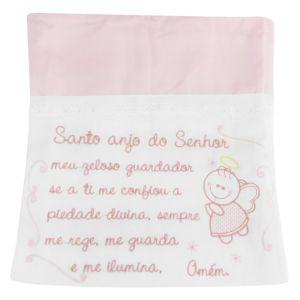 Toalha Fralda Bordada Rosa Bebê Anjo Minasrey