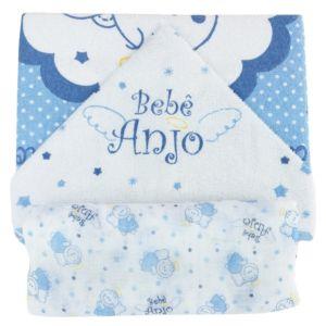 Kit Banho 2 Peças Azul Bebê Anjo Minasrey