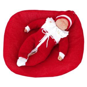 Saída de Maternidade Ternura Unissex Tricô Vermelho