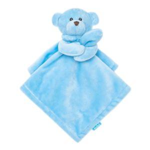 Naninha para Bebê Buba Ursinho Carinhoso Extra Macia Azul
