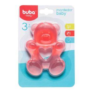 Mordedor para Bebê Buba Gelado com Água Ursinho Rosa