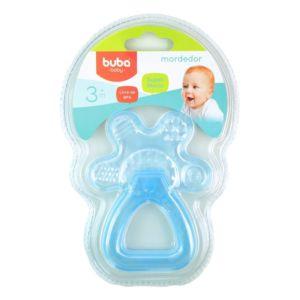 Mordedor para Bebê Buba Gelado com Água Chocalho Azul