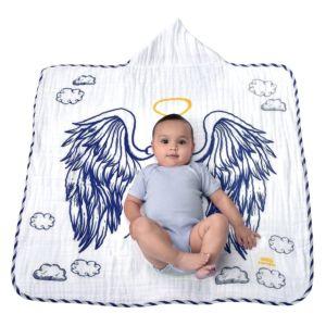 Toalha Felpa Minasrey Anjinho Mini Herdeiros Azul