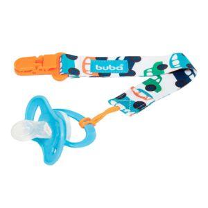 Prendedor de Chupeta Buba Toys com Clipe Carrinho Azul