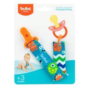 Prendedor de Chupeta Buba Toys com Clipe Monstrinho Azul