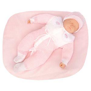Saída de Maternidade Tamine 3 Peças Tricô Especial Rosa Bebê Conjunto