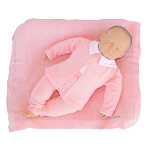 Saída de Maternidade Tamine 4 Peças Tricô Paris Rosa