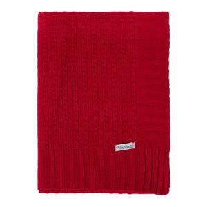 Manta Cobertor de Berço Tricô Tamine Luxo Vermelho