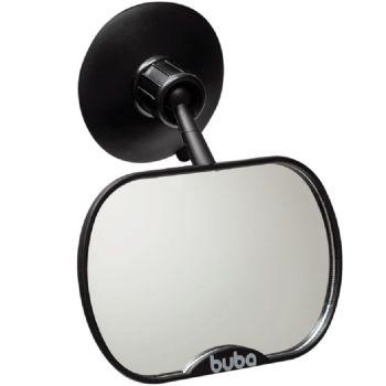 Espelho Retrovisor para Carro Buba Ventosa e Clipe Preto