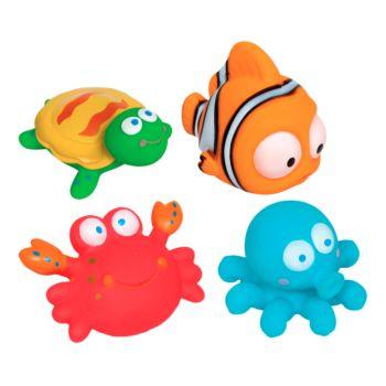 Bichinhos para Banho Buba 4 Peças Oceano Colorido