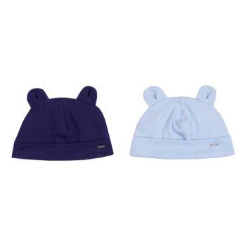 Kit 2 Toucas Infantis Paraiso Suedine Marinho e Azul Claro