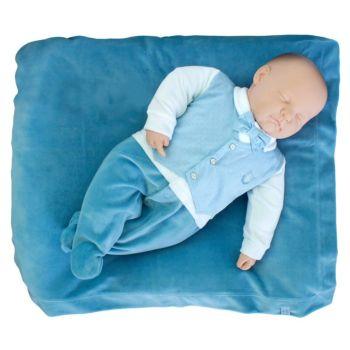 Saída de Maternidade Sonho Mágico Plush Gravata Azul Náutico Modelo