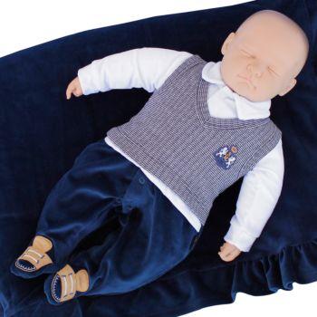 Saída de Maternidade Sonho Mágico Plush Exclusive Marinho