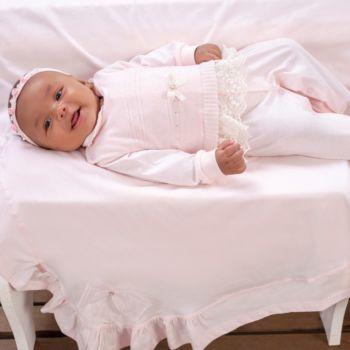 Saída de Maternidade Sonho Mágico Tricô Welfare Rosa