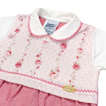 Saída de Maternidade Sonho Mágico Malha Delicate Rosa
