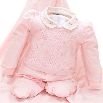 Saída Maternidade Sonho Mágico Delicada Tricô Plush Rosa