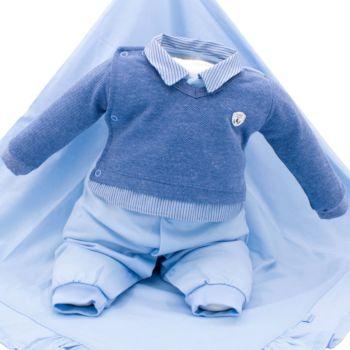 Saída de Maternidade Sonho Mágico Featured Malha Azul Bebê