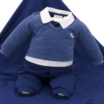 Saída de Maternidade Sonho Mágico Featured Malha Azul Naval