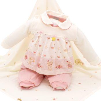 Saída de Maternidade Sonho Mágico Queen Malha Rosa