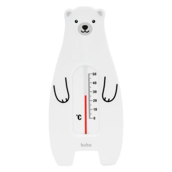 Termômetro para Banho Buba Baby Indicador Urso Polar Branco
