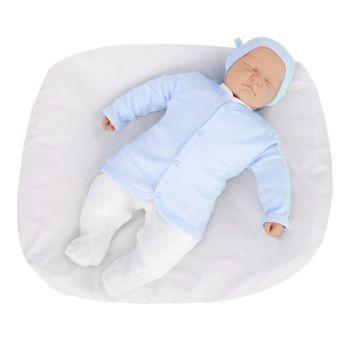Conjunto para Bebê Tilly Baby Macacão Casaco Touca Azul Bebê Modelo