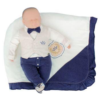 Saída Maternidade Fofinho Ulisses Malha e Plano Marinho