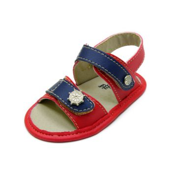Sandália para Bebê Maguilu Marinheiro Vermelho