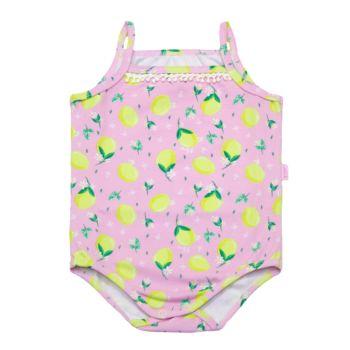 Body para Bebê Nini e Bambini  em Cotton Limões Rosa