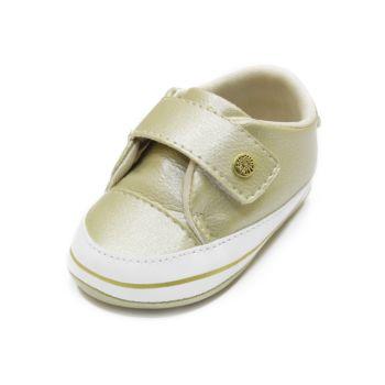 Tênis para Bebê Maguilu Fecho Rápido Ouro Perolado