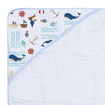 Toalha de Banho Papi Soft Especial Capuz Marinheiro Azul