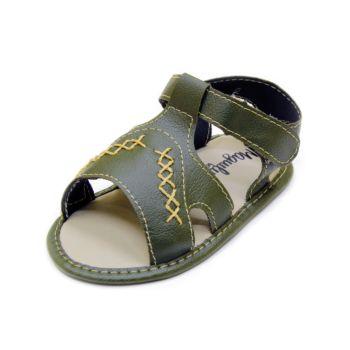 Sandália para Bebê Maguilu Estiloso Verde Militar