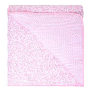 Edredom Avulso Papi Dupla Face 1,30x0,85cm Floral Rosa