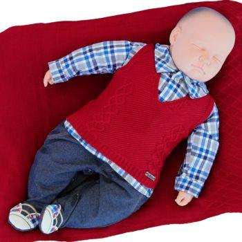 Saída de Maternidade Fofinho Masculina Jeremias Vermelho