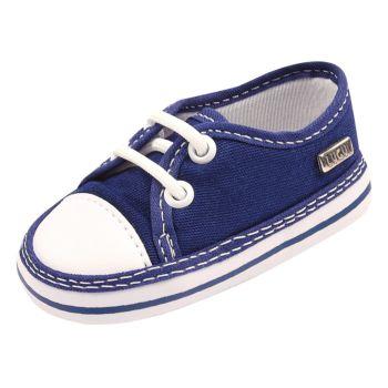 Tênis para Bebê Lugui Baby Menino Cadarço Azul Marinho