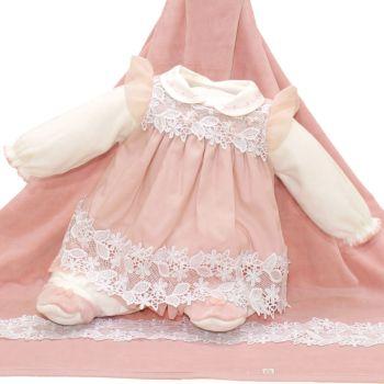 Saída de Maternidade Beth Bebê Plush Luxo Sarah Nude